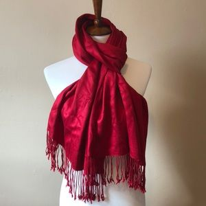 The Perfect Shade of Red WHBM Scarf